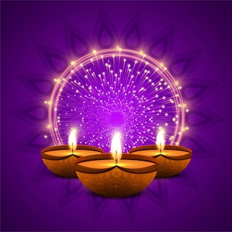 Purple background with lights for diwali