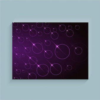 Purple background with shiny circles