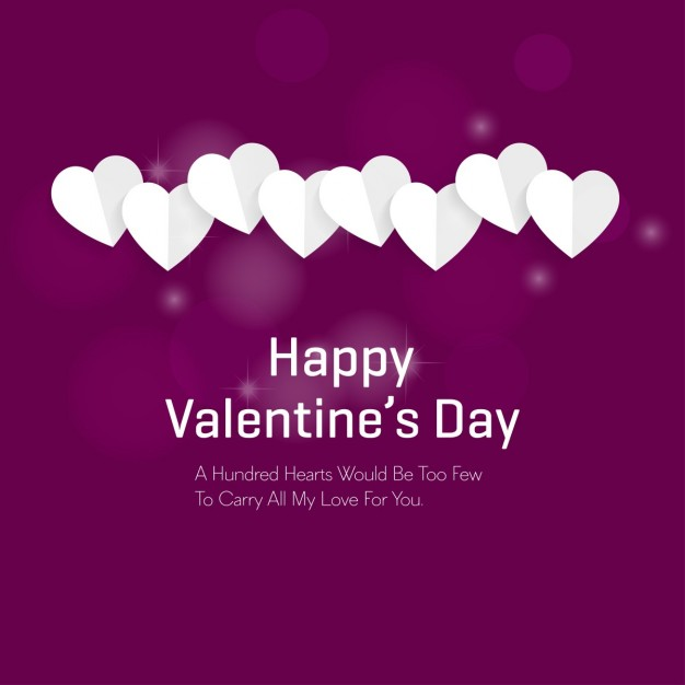 Purple background with white hearts