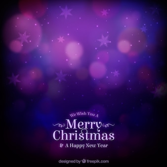 Purple blurred christmas background