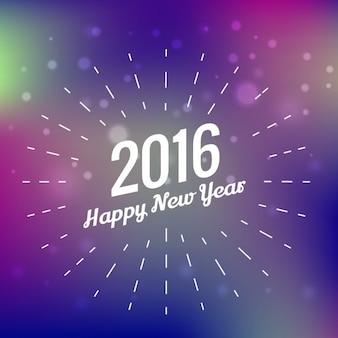 Purple blurred new year 2016 greeting