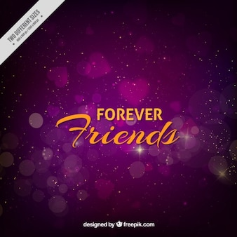 Purple bokeh background of friendship day
