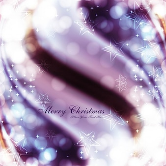 Purple bokeh christmas background