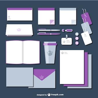 Purple branding identity