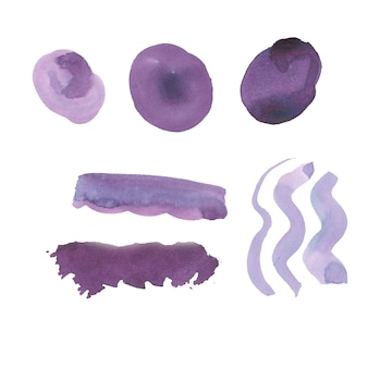 Purple brush strokes collection