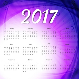 Purple calendar with rays