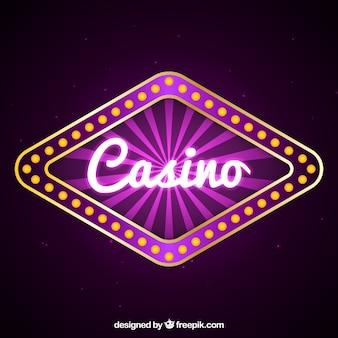 パープルカジノのサインの背景