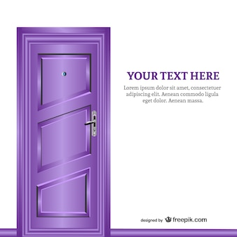 Purple closed door