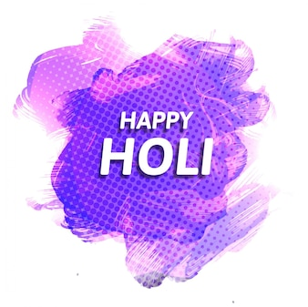Purple dotted background with watercolors for holi festival