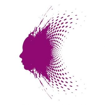 Purple face Background Design