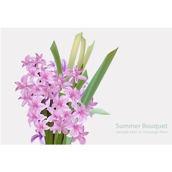 紫色の花のテンプレート