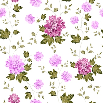 Purple flowers pattern backgorund