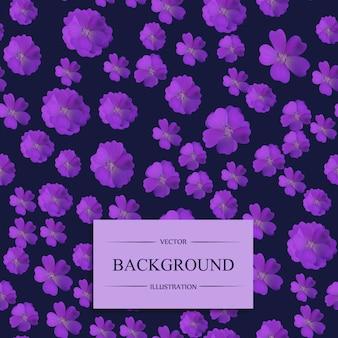 紫の花のパターンの背景