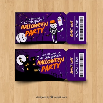 Purple halloween party tickets