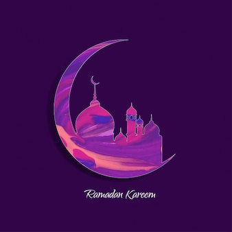 Purple islamic background