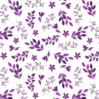 紫の葉パターンの背景