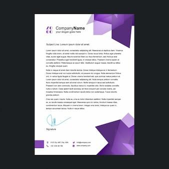 Purple letterhead template