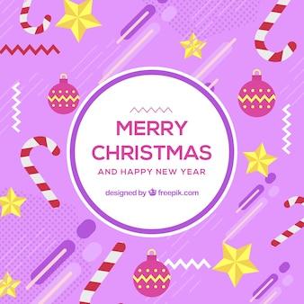 Purple memphis christmas background