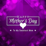 Purple mother's day design