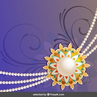 Purple ornamental Rakhi background