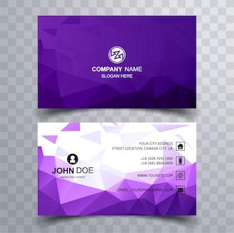 Purple polygonal business card