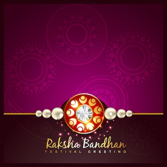 Purple raksha bandhan design