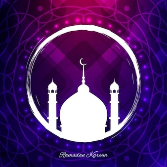 Purple ramadan background