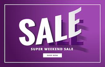 Purple sale banner