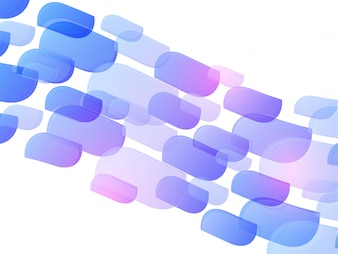 Purple shapes on white background