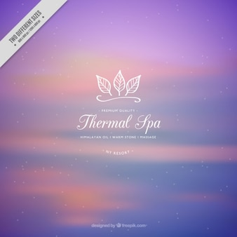 Purple spa background