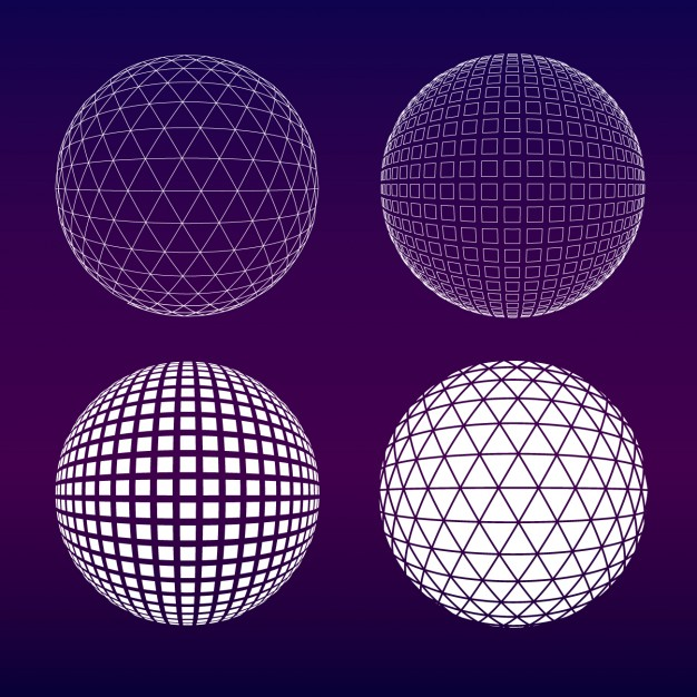 Purple spheres collection