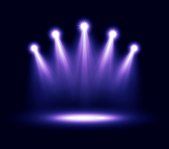 Purple spotlights