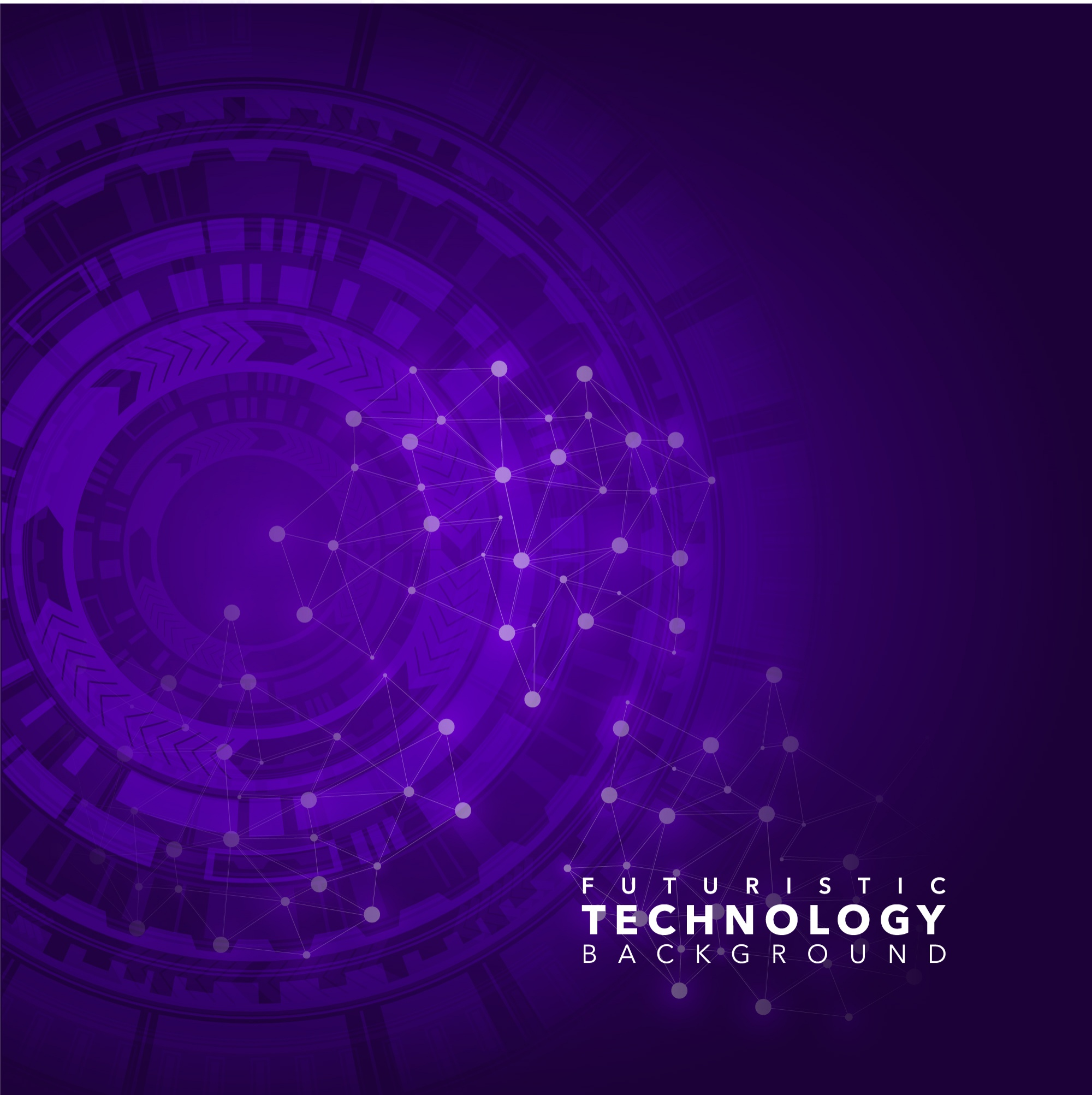 Purple technological background