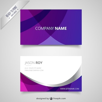 Purple visit card