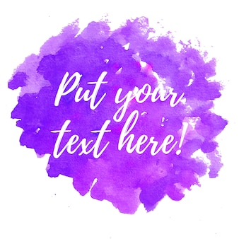 Purple watercolor background with text template