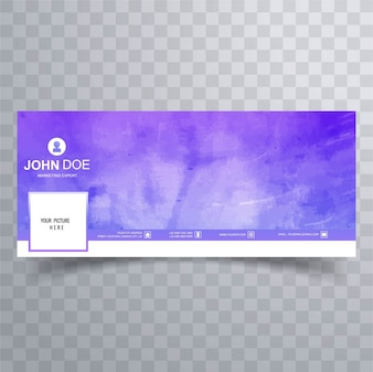Purple watercolor facebook cover