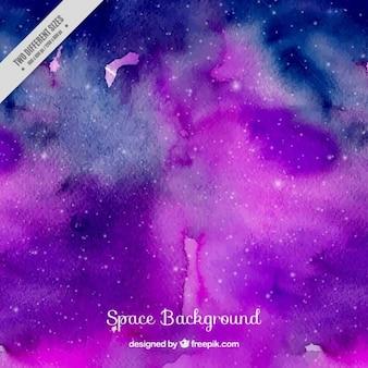 Purple watercolor galaxy background