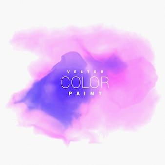 Фиолетовый акварель пятно