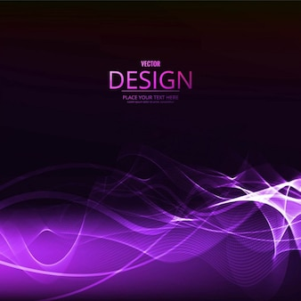Purple wavy forms on a black background