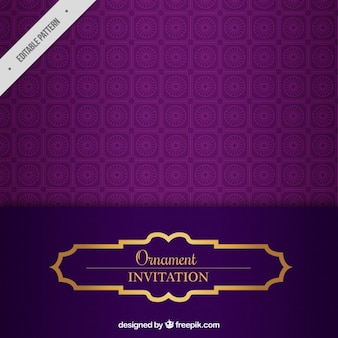 Purple wedding invitation pattern