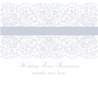 Purple wedding lace invitation template