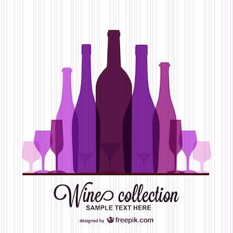 Purple wine bottles