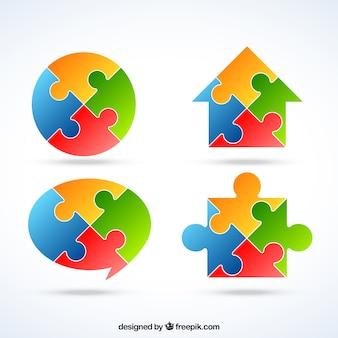 Puzzle logos