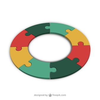 Puzzle pieces making a circle