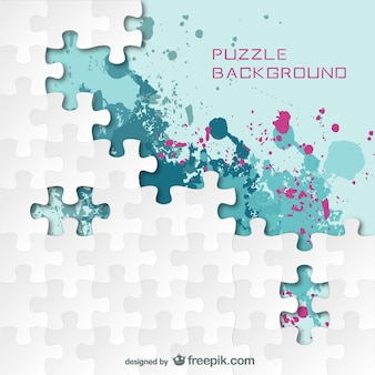 Puzzle splash color background