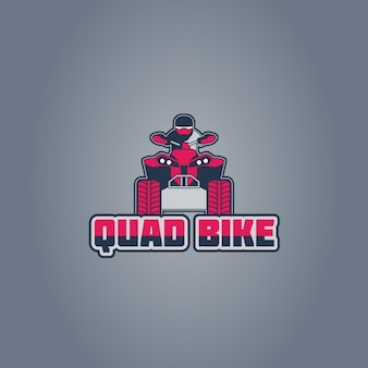 Quad bike logo on gray background