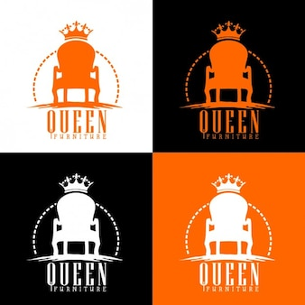 Queen throne logo