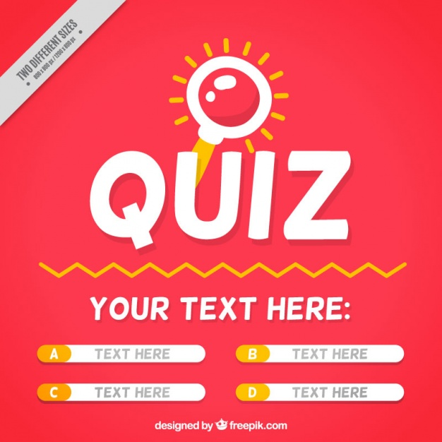 Quiz background with question and four options