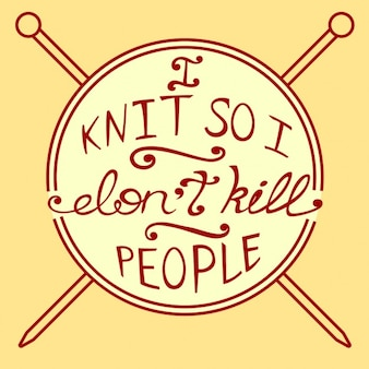 Quote about knit