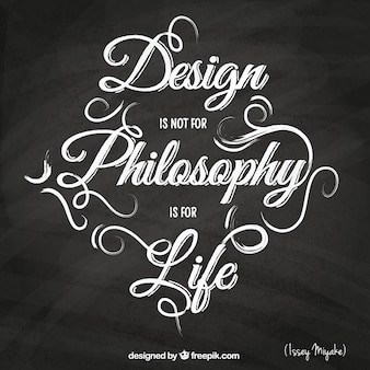 Quote in calligraphic style